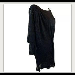 Twinkle By Wenlan Anthropologie Dress Black SZ 2